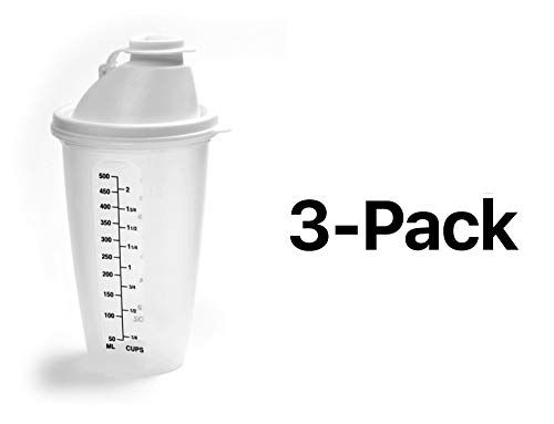 (Norpro Measure Mix Salad Dressing Drink Shaker 2 Cups w/ Mixing Blade(3-Pack))
