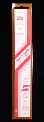 Showgard Strip Style Clear Stamp Mounts Size 25 (Stamp Strip)