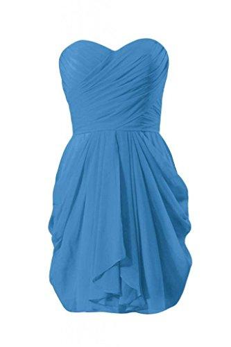 Daisyformals Mini Robe De Retour À La Maison Robe De Demoiselle D'honneur En Mousseline De Soie Sans Bretelles (bm643n) # 37 Bleu Royal