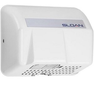 Sloan EHD-401 WHT Optima Hand Dryer, Sensor Activated, Surface Mounted, 110-120V, White Cover