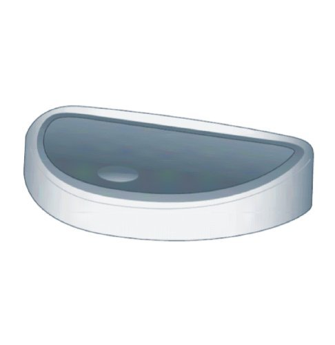 Brabantia spare lid for Brabantia Touch-Bin 40 litres or Twin-Bin 10/23 litres, matt steel FPP 383885