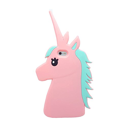iPhone 6 Plus / 6s Plus Case, XINSIR Cute 3D Cartoon Unicorn Animal Horse Soft Silicone Case Rubber Back Cover Skin for Apple iPhone 6S Plus 5.5inch (Soft Silicone Rubber)