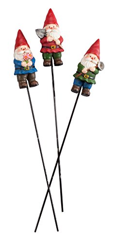 Gnome Planter (Gnome Planter Stakes by Maple Lane Creations, Set of 3)