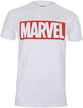 Marvel Camiseta Manga Corta Core Logo: Amazon.es: Ropa y accesorios