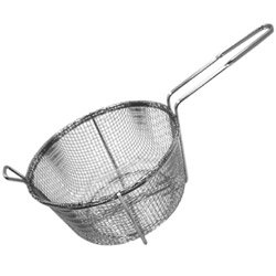 Misc Imports 9 1/2'' 4-Mesh Round Fry Basket Fry (15-0282) Category: Fryers and Fry Baskets