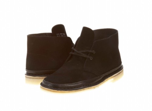 Clarks Men's Desert Guard Lace-Up Boot,Black Suede,10.5 M US (Best Price Clarks Desert Boots)