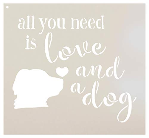 All You Need - Dog - Word Art Stencil - STCL1855 - by StudioR12 (8