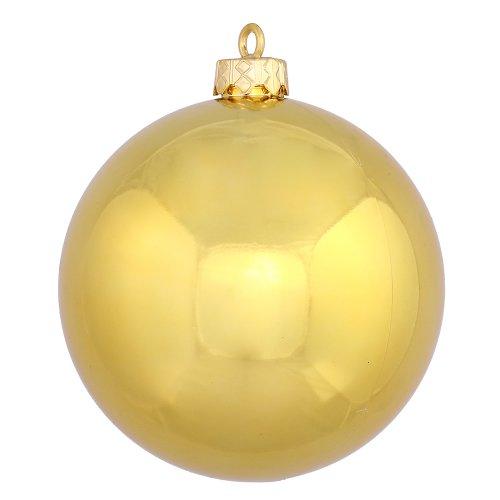 Vickerman Shiny Ball, Includes 60 Per Box, 2.4-Inch, Luxe Gold