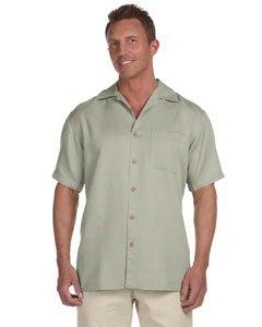 Harriton - Men's Bahama Cord Camp Shirt >> XL,GREEN MIST