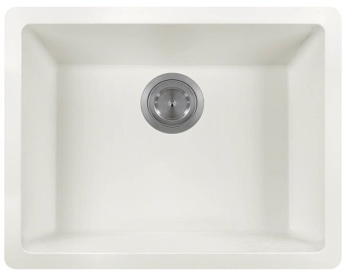 Polaris Sinks P808 White AstraGranite Single Bowl Kitchen Sink by Polaris Sinks by Polaris Sinks
