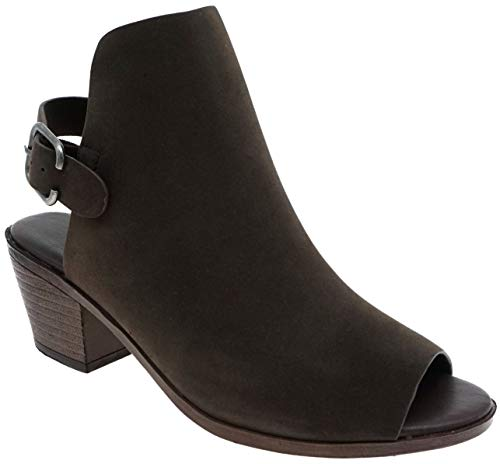 - MVE Shoes Womens Stylish Comfortable Low Heel Buckled Open Toe Heeled Sandals, Brown 9