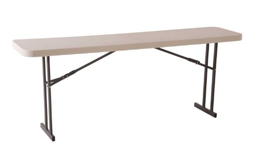 Lifetime 80177 Folding Conference Table, 8 Feet, White Granite by Lifetime
