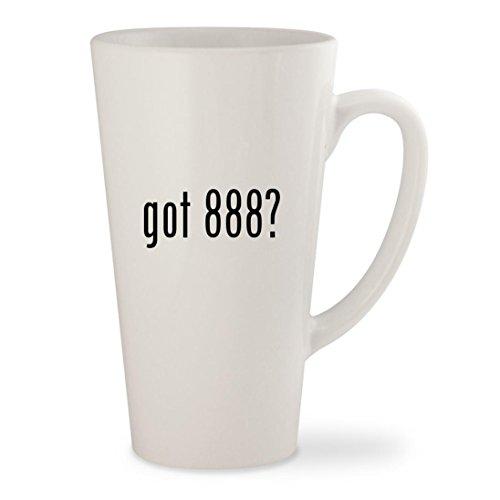 got 888? - White 17oz Ceramic Latte Mug Cup