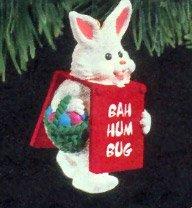 Hallmark Keepsake Billboard Bunny Christmas Tree Ornament - Handcrafted - Great for hanging on wreaths or christmas trees