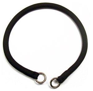 Nylon Show Dog Collar Choke (Coastal Pet Products Round Nylon Black Choke Collar for Dogs, 3/8 by 14-inch)