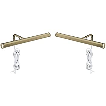 Westinghouse Lighting Corp 75053 14-Inch Picture Light Fixture (Antique Brass - 2 Pack)