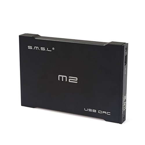 SMSL SMSL M2 Portable Headphone Amplifier External DAC Decoder Sound Card (Black) by SMSL