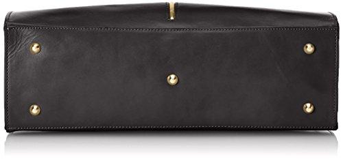Nero CTM 38x27x12cm femme in Noir Made Italy classique 100 cuir véritable Sac PwprP