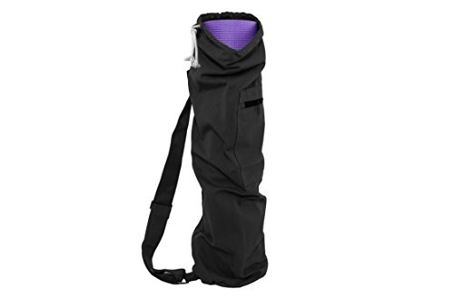 "ProSource Yoga Mat Bag with Side Pocket and Cinch Top, 28"" for Easy Carrying of Yoga Mats Choose Your Color"