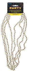 Metallic Silver Mardi Gras Beads, 4ct]()