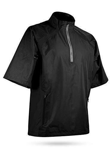 Sun Mountain Golf- Cumulus Short Sleeve Pullover Black ()
