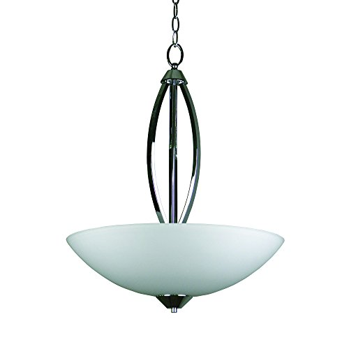 Yosemite Home Decor 179-3UCHAN-20CH 3-Light Bowl Chandelier with Opal Glass, 20