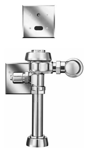Sloan ROYAL 111-1.28 ES-S Royal Optima Exposed, Hardwired, Automatic Toilet Flush Valve - 1.28 GPF High Efficiency
