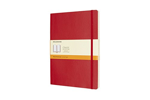 Moleskine Classic Notebook XL Ruled Scarlet Red Softcover (8055002854672)