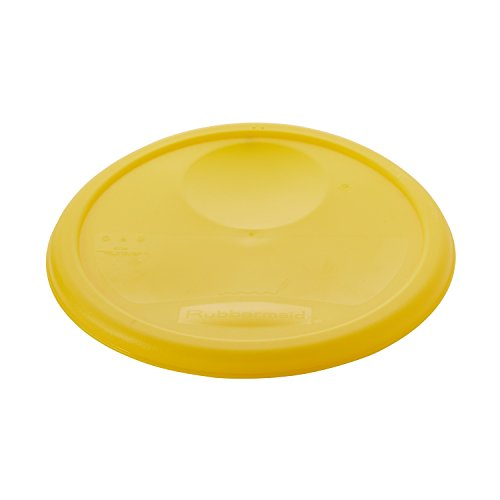 Rubbermaid Commercial Plastic Food Storage Container Lid, Round, Yellow 8 (Round Low Lid)