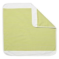 (Serena and Lily Sprout Green Nautical Stripe Organic Cotton Stroller Blanket )