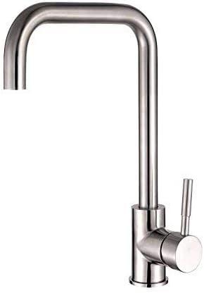 ShiSyan 立体水栓 万能水栓 ホットとコールドの台所食器洗浄槽が起毛304ステンレス鋼、鉛フリー水蛇口タップ蛇口流域ミキサータップ滝の蛇口アンティーク浴室を回転させることができます 混合水栓