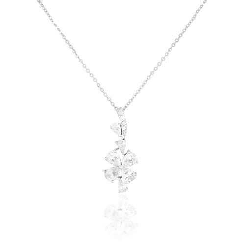 HISTOIRE D'OR - Collier Or et Oxyde - Femme - Or blanc 375/1000