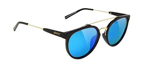 GLASSY Sunhater Sunglasses CHUCK BLACK/BLUE MIRROR - Brands Skateboard Sunglasses