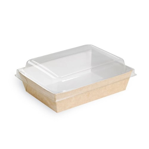PacknWood Plastic Lid for Brown Paper Salad Box 210PAN850, Clear (Case of 200)