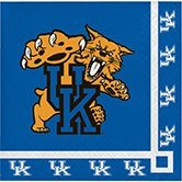(Club Pack of 240 NCAA Kentucky Wildcats 2-Ply Tailgating Party Beverage Napkins)