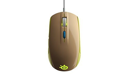 SteelSeries Rival 100, Optical Gaming Mouse - Gaia Green