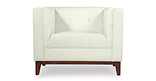 Kardiel Harrison Mid-Century Modern Loft Club Chair, White Aniline Leather ()