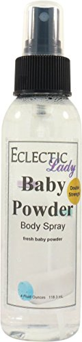 Baby Powder Body Spray (Double Strength), 4 ounces (Powder Baby Spray)