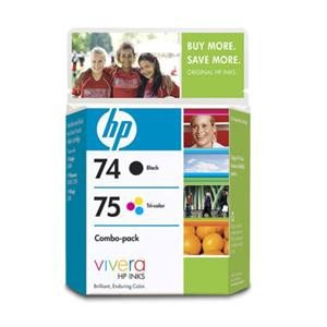 HP Consumables 74/75 Retail Combo (Hp 75 Black Ink)
