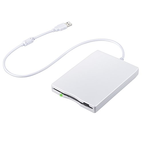 Neoteck USB Floppy Disk 3.5″ 1.44 MB FDD Floppy Disk Drive External Portable USB Floppy Disk Reader Plug and Play for Laptop PC MAC Windows 10 Windows 8 7 VISTA XP ME 2000 SE 98-White