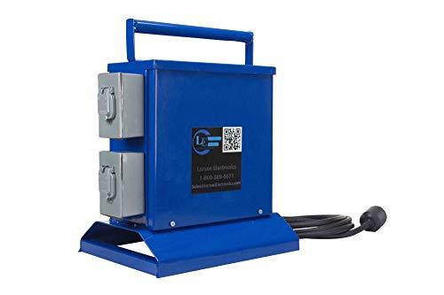 Temporary Transformer - 1000 VA - Converts 480V AC to 120V AC - (1) 20A GFCI Duplex Outlet ()