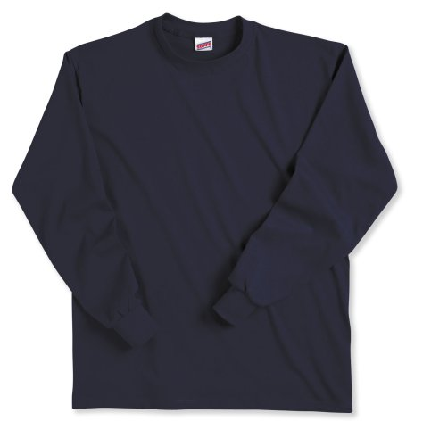 - Soffe Big Boys' Long Cotton Sleeve T-Shirt, Navy, Large