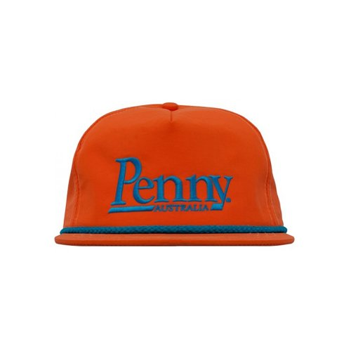 Penny Mens Braided Snapback Adjustable Hat/Cap, Orange/Blue, One Size Fits All