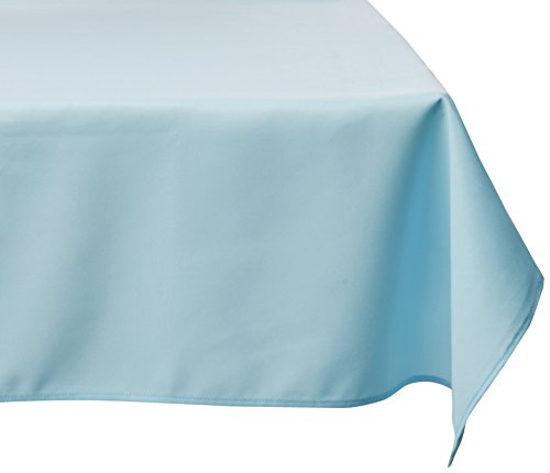LinenTablecloth 60 x 126-Inch Rectangular Polyester Tablecloth Baby Blue (Table Blue Clothes)