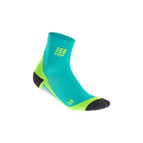 CEP WP5BM02 Short Socks, Lagoon/Lime, Size III