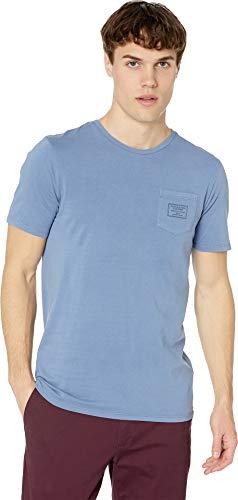 Scotch & Soda Men's Garment-Dyed Crew Neck Tee with Chest Pocket Denim Blue Large (Best Scotch And Soda)