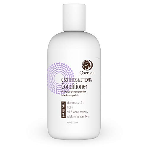 Strengthening Biotin Conditioner for Thicker Fuller Hair – Sulfate and Paraben Free Formula with Vitamins A, E, C and Silk Protein – Promotes Hair Growth for Stronger, Fuller, Shinier Hair by Osensia