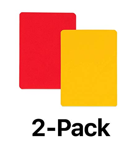 Champion Soccer Referee Red & Yellow Coloured Replacement Cards RWCD (2-Pack) ()