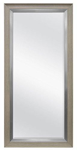 MCS Beveled Leaner Mirror (66902) Rustic Woodgrain, Rustic Woodgrain and Pewter (Leaning Mirrors Large)