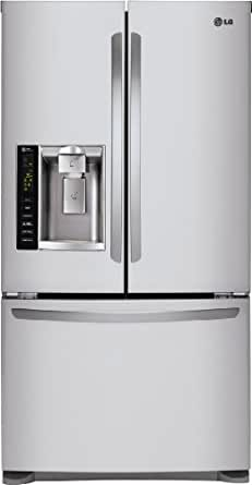 "LG LFX25974ST 36"" Freestanding French Door Refrigerator with 24.1 Cu. Ft. Capacity Stainless Steel"